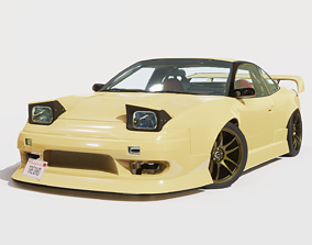 3D model Cream Drift S13 240SX Fully Rigged