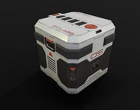 3D asset low-poly Sci Fi Crate
