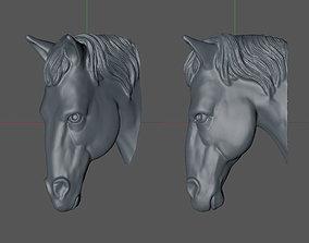horse head 3D printable model statue