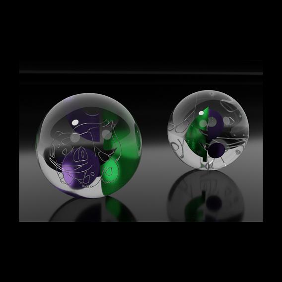 Pokemon glass marbles