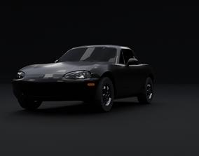 Low poly Mazda MX-5 3D model