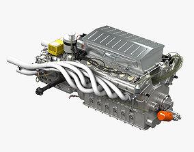 Ferrari 312p V12 Engine - 3 liter 3D model