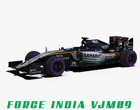 Force India VJM09 car 3D asset