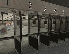 Shooting Range - basement 2 user 3D asset