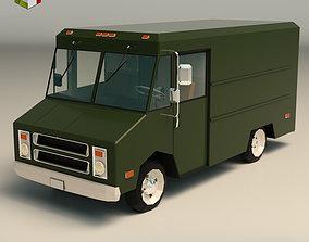 Low Poly Transporter Van 03 3D asset