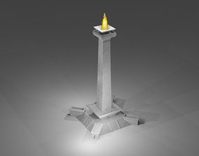 National Monument of Indonesia 3D print model