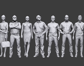 Lowpoly People Casual Pack 3D model