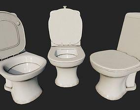 Dirty Toilet PBR 3D asset