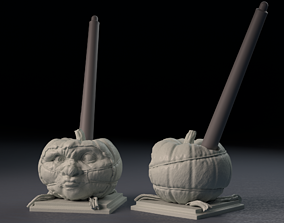 Halloween Pumpkin Covid-19 Nightmare 2020 - 3D print model