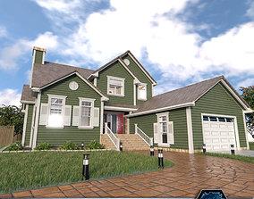 3D asset Suburban House