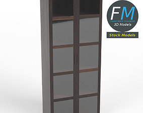 3D Window cabinet bookcase