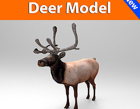 3D Reindeer game ready game-ready