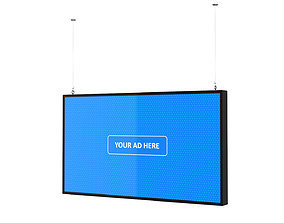 3D model Digital Panel Horizontal 43 Inch