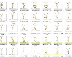 150 Women Pendant 3dm render details bulk