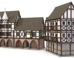 log 3D model Medieval Building