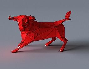 VR / AR ready red bull lowpoly 3D print model