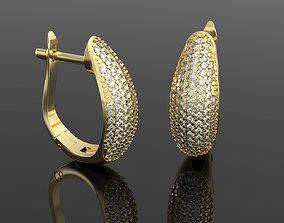 3D printable model Luxury earring with diamonds