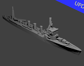 Japanese Nagara Class Cruiser Warship 3D print model