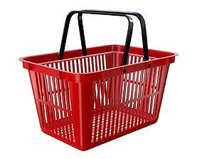 3D model plastic shopping basket