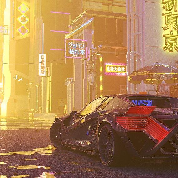 Cyberpunk car concept