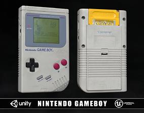 Nintendo Gameboy Retro 1989 3D model