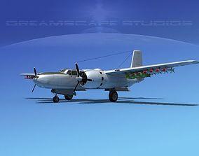 Douglas A-26B Invader V10 3D model