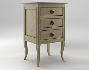 3D Bedside Table With Fluting