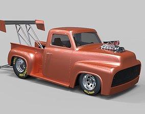 3D model Pickup Dragster