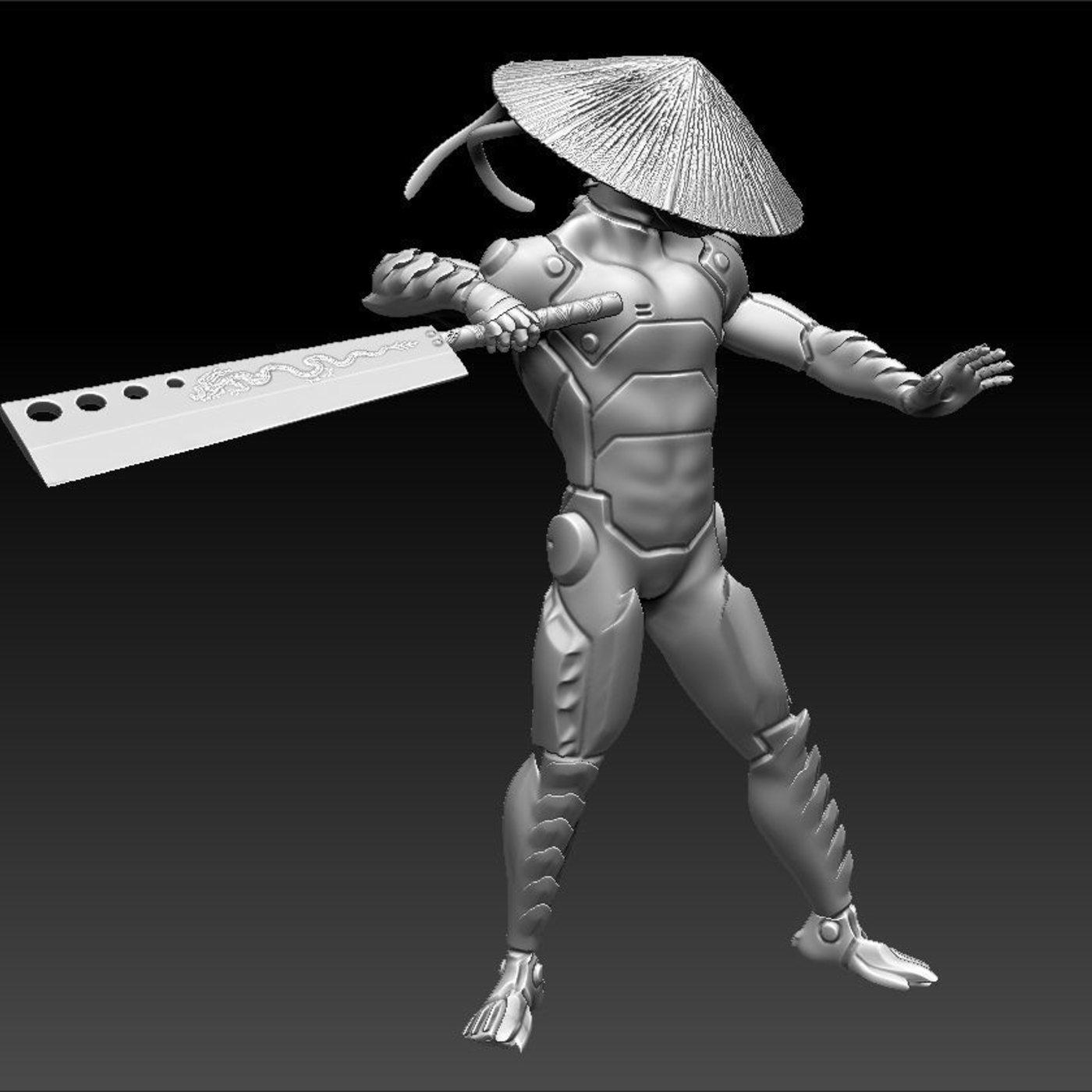 Cybernetic Monk Printable Model