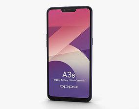 Oppo A3s Dark Purple 3D
