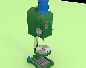 Industrial drilling machine 3D