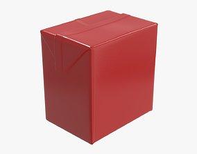 Small cardboard box packaging 3D