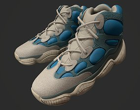 YEEZY 500 High - Frosted Blue - Kanye West - 3D asset