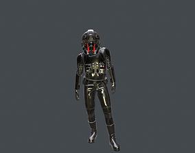Piloto imperial negro star wars 3D