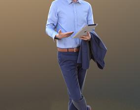 3D asset John 10315 - Standing Business Man