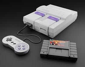 3D asset SNES Super Nintendo Entertainment