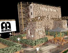 3D model of rock climbing and rappelling site with full