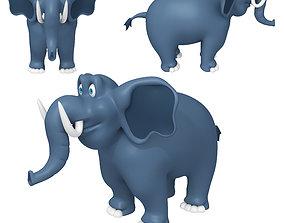 Elephant Cartoon 02 3D