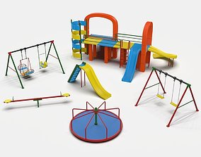 3D model animated Playground Collection