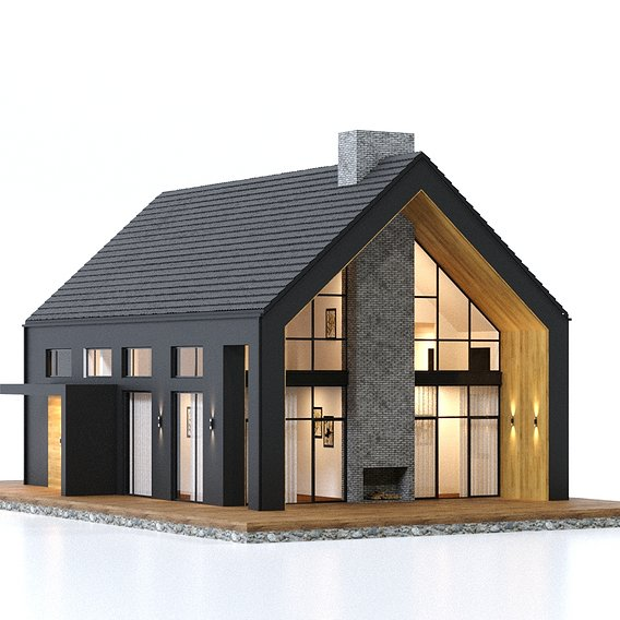Modern house in a hi-tech way