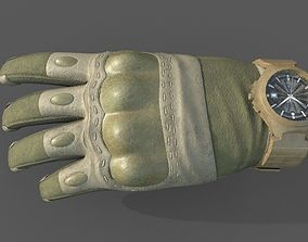 3D model VR Tactical Gloves Pack