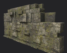 Low poly Ruin Temple Block 05 181116 3D asset