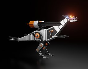 3D Robotic Raptor with Military Weapon