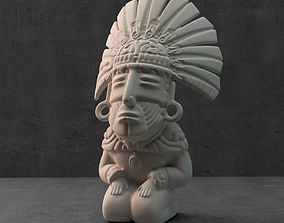 3D printable model Aztec sculpture