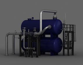Chloridizing boilers steam gas filtration lines 3D model