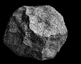 Hi poly asteroid 3D asset