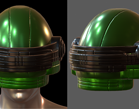 VR / AR ready Gas mask helmet 3d model plastic scifi