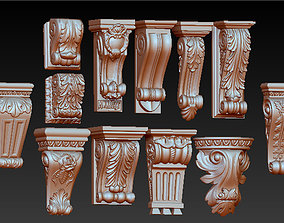 Pack Corbel Decorative Collection 3D model