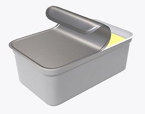 3D model Margarin rectangular package 03