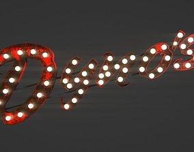 Rusty Dynos Light Sign 3D model